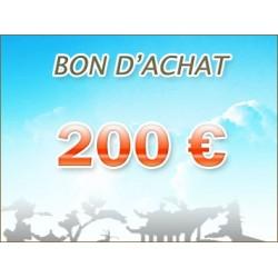 Bon d'achat de 200 euros